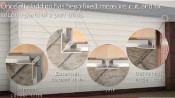 How to fit cladding